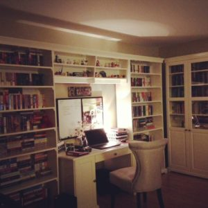 Check out the bookshelves in my house!