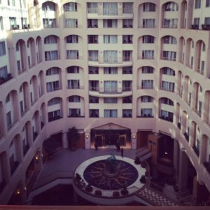 We party in style. The Grand Hyatt in D.C.!