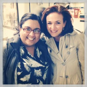 The illustrious Sheryl Sandberg...and me after a 15 hour day. How does she look so good this late at night?